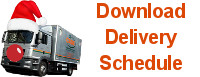 Download Christmas Delivery Schedule and Opening Hours